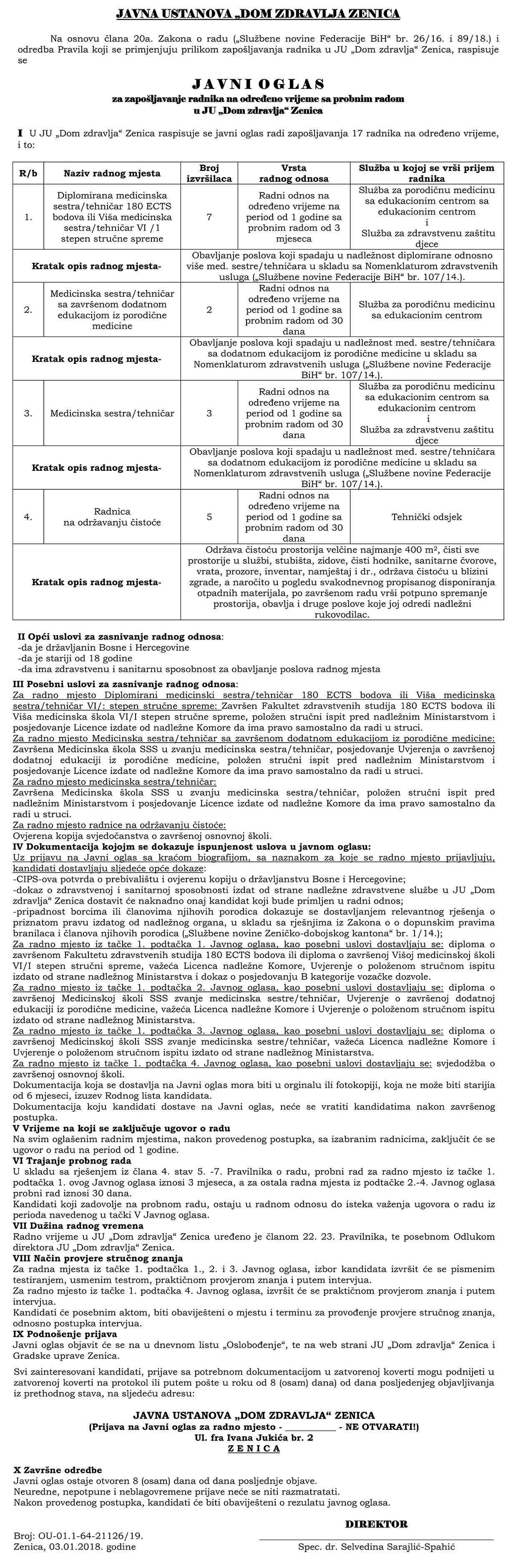 Diplomirana medicinska sestra/tehničar
