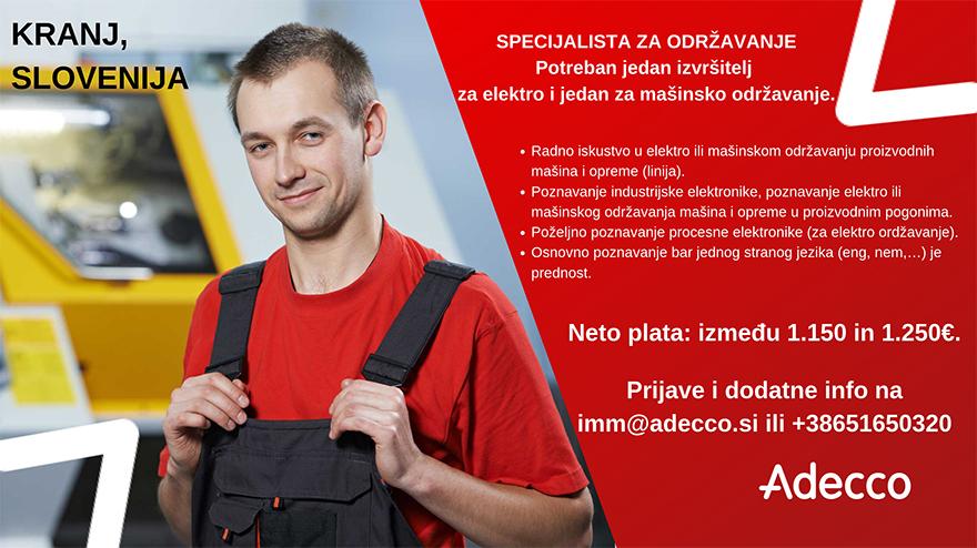 Specijalista za održavanje (m/ž)