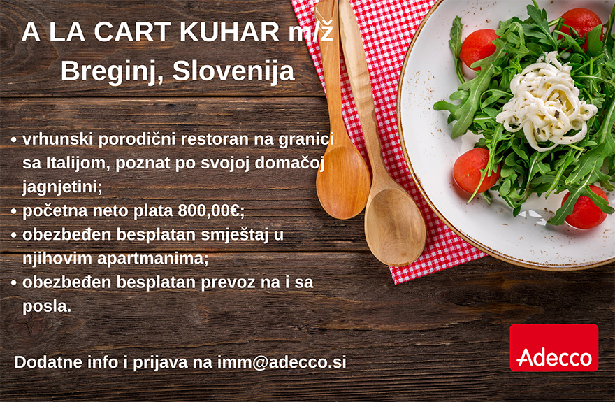 A' la carte kuhar (m/ž)