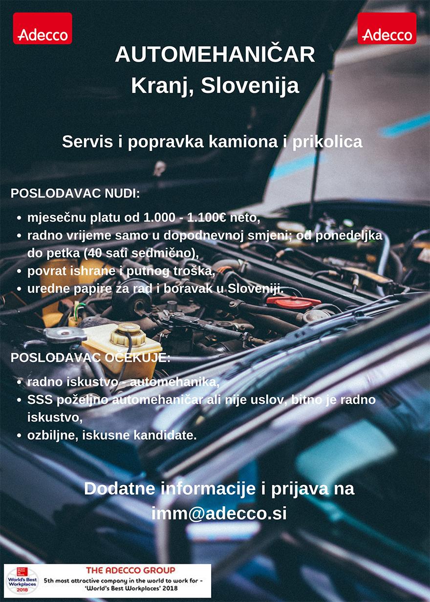 Automehaničar (m/ž)