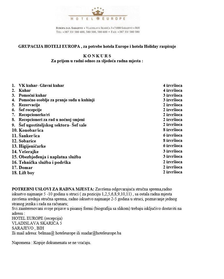 Radnik za rad na rezervacijama (m/ž)